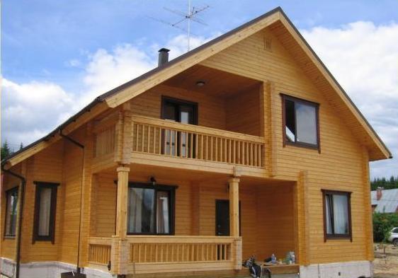 построить дом из бруса в