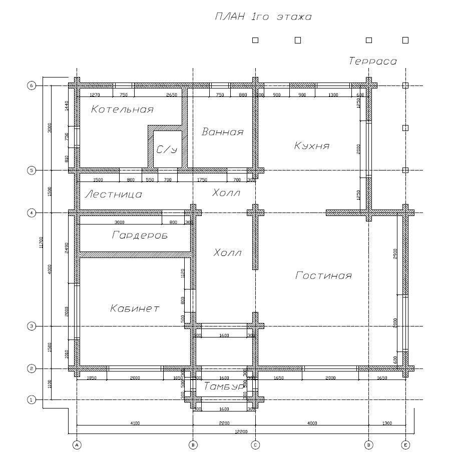 Схема вентиляции одноэтажного частного дома с6